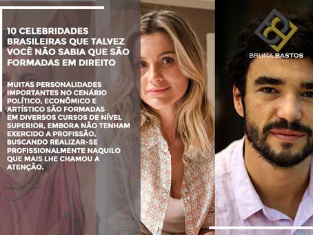 10 celebridades brasileiras que talvez você não sabia que são formadas em Direito