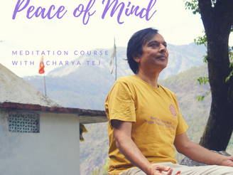 {Gurgaon/Meditation} 瞑想コース with Acharya Tej
