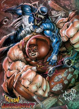 Juggernaut vs Venom!