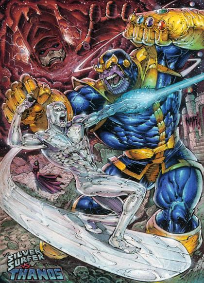 Silver Surfer vs Thanos!