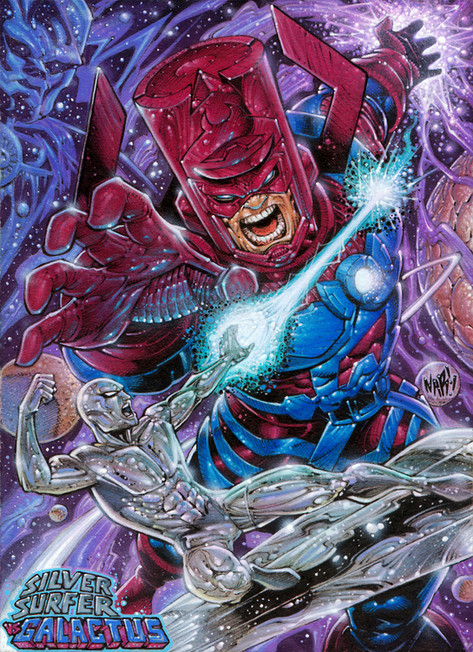 Galactus vs The Silver Surfer!
