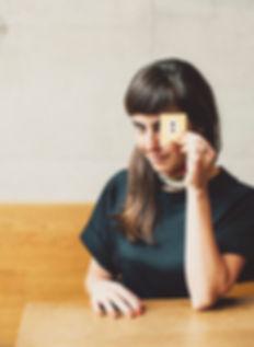 Brand designer Isabel Elia photographed inside Modulor, Berlin