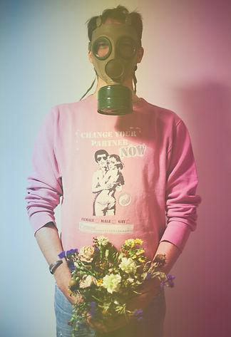 Gradient photoshop effect added into portrait of Malte Fischer