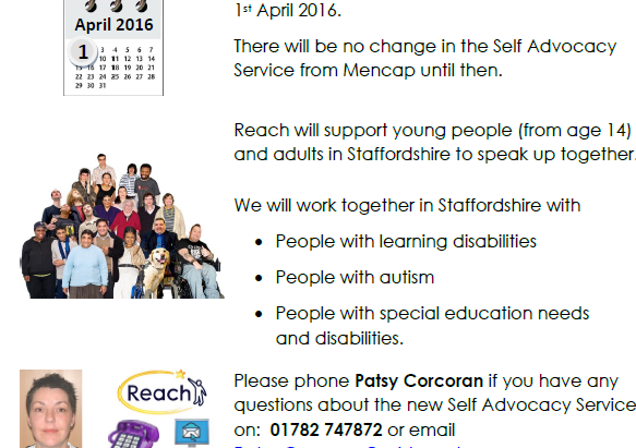 New Self Advocacy Contract For Staffordshire