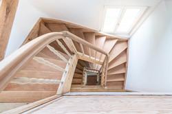 Treppenauge, Holztreppe
