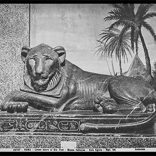 León sagrado para el Dios Thoth