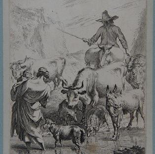 Pastores con ganado