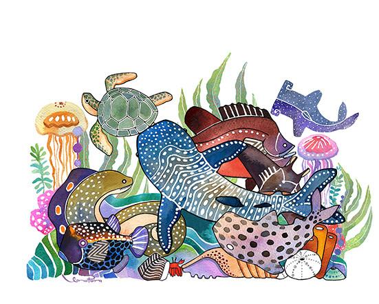 Fauna marina-agua
