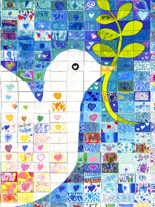 Dove Mosaic Holiday Card