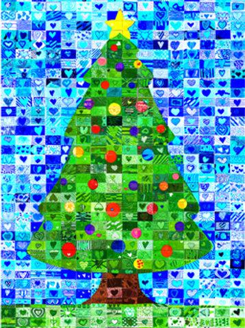 Christmas Tree Mosaic Cards