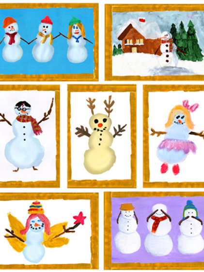 Snowman Series Holiday Cards