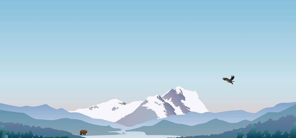 Welcome Banner. Landscape Illustration