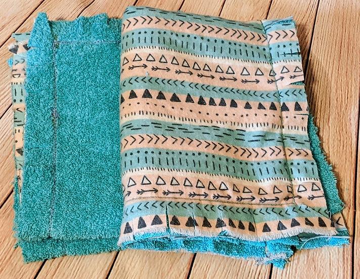 """""""Saddle Blanket"""" Print Burp Rags"""