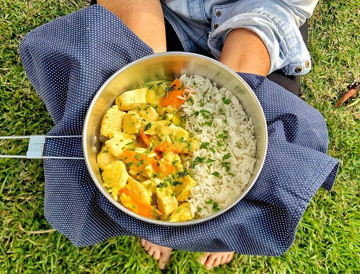 Frango ao Curry com ora-pro-nobis