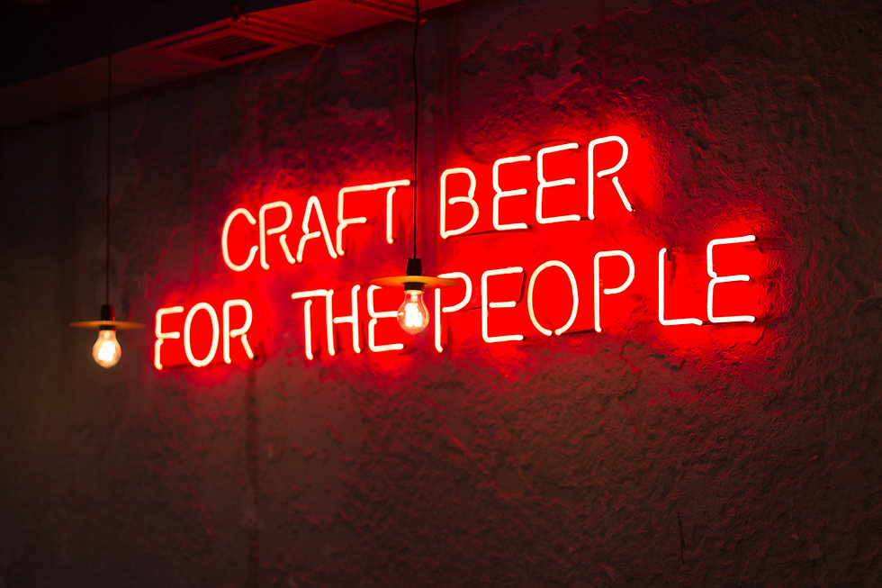 Neon Sign in Bar