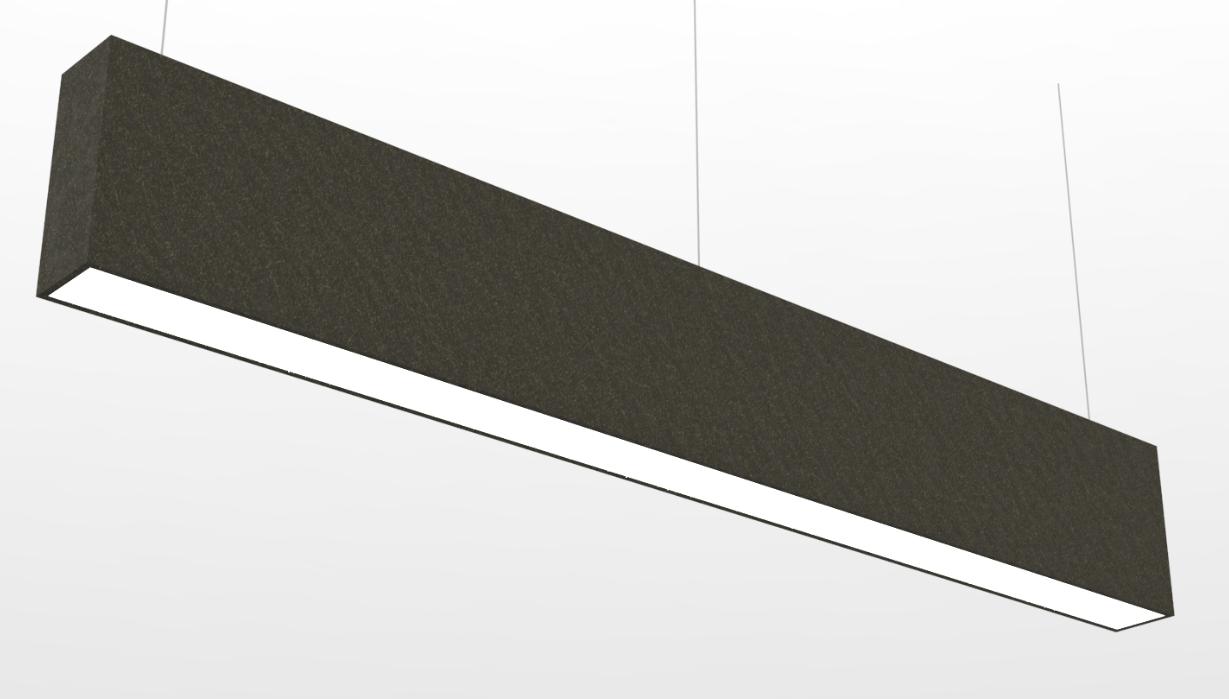 Linear with felt cladding