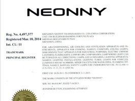 Neonny trademark is registered in USA