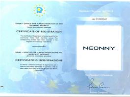 Neonny trademark is registered in Europe