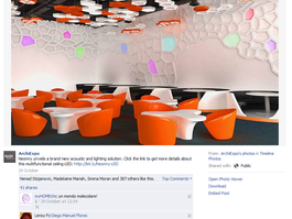 Neonny hexagon series is recommended on Facebook