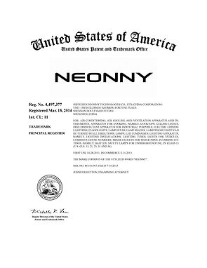 UNITED STATES OF AMERICA TRADEMARK CERTIFICATE