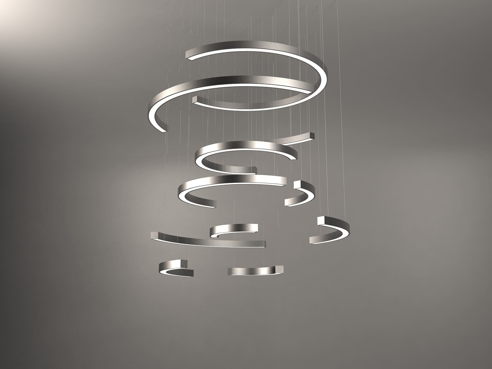 Chandelier with curved fittings_neonny 1