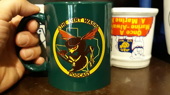 The Dirt Wasp Podcast Coffee Cup