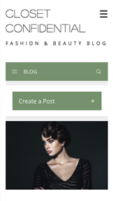 Blogg og forum website templates – Moteblogg
