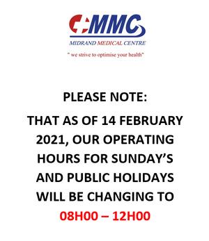 Sunday's & Public Holidays
