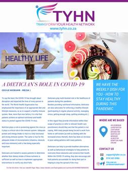 Dietician's July Newsletter