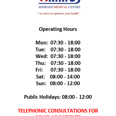 Updated Operating Hours