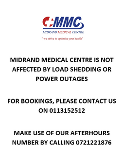 MMC is NOT affected by Load Shedding