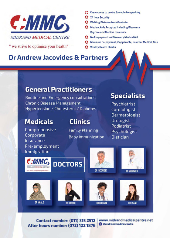 Midrand Medical Centre - Services & Partners at Health Emporium