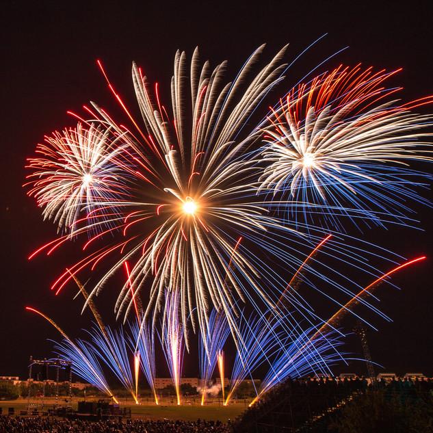 Feuerwerk im Volkspark Potsdam