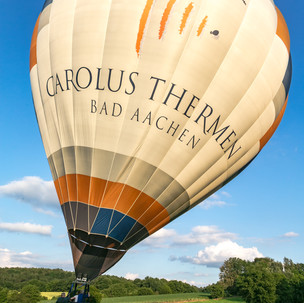 Ballonaufbau in Würselen bei Aachen