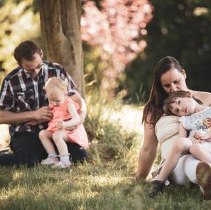 Kristin und Christian mit ihren Töchtern