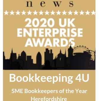 Bookkeeping 4U - Winners of 2020 UK Enterprise Award