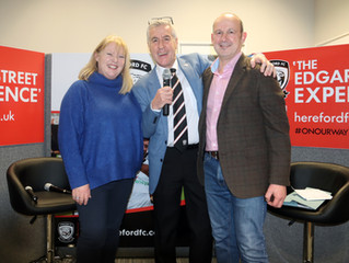 Hereford FC Match Sponsors with a BIG Surprise for one of our guests!!