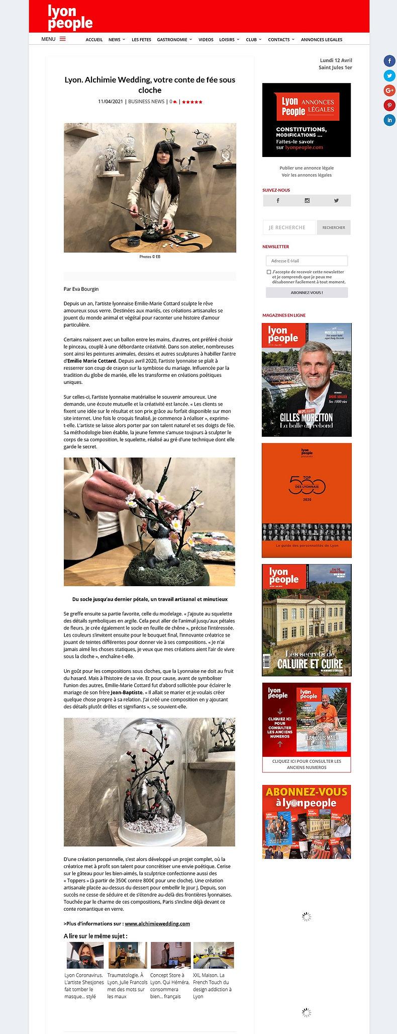 Article Lyon people Alchimi wedding coup