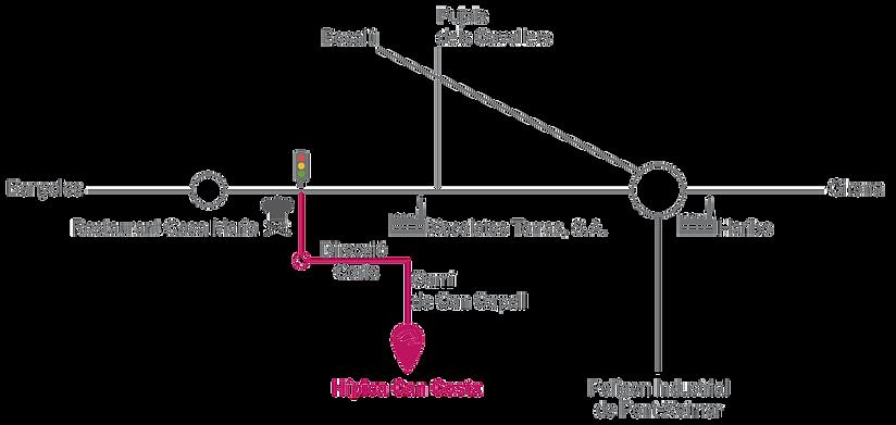mapa Hipica Can Costa