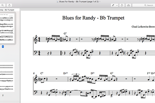 Blues for Randy Sheet Music