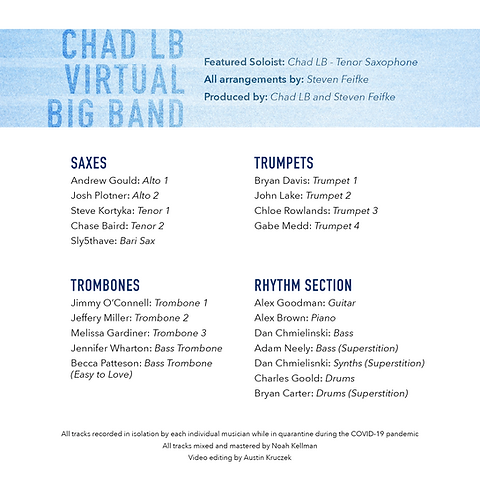 Chad LB Virtual Big Band Cover Instrumen