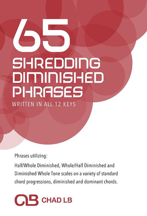 (Bass Clef) 65 Shredding Diminished Phrases
