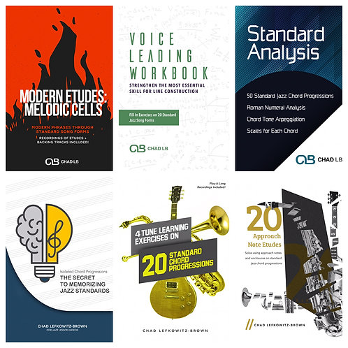 (Bb) Standards Combo Package - All 6 Standard PDF Packages! (Digital Download)