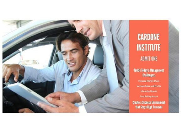 1 Ticket to The Cardone Institute