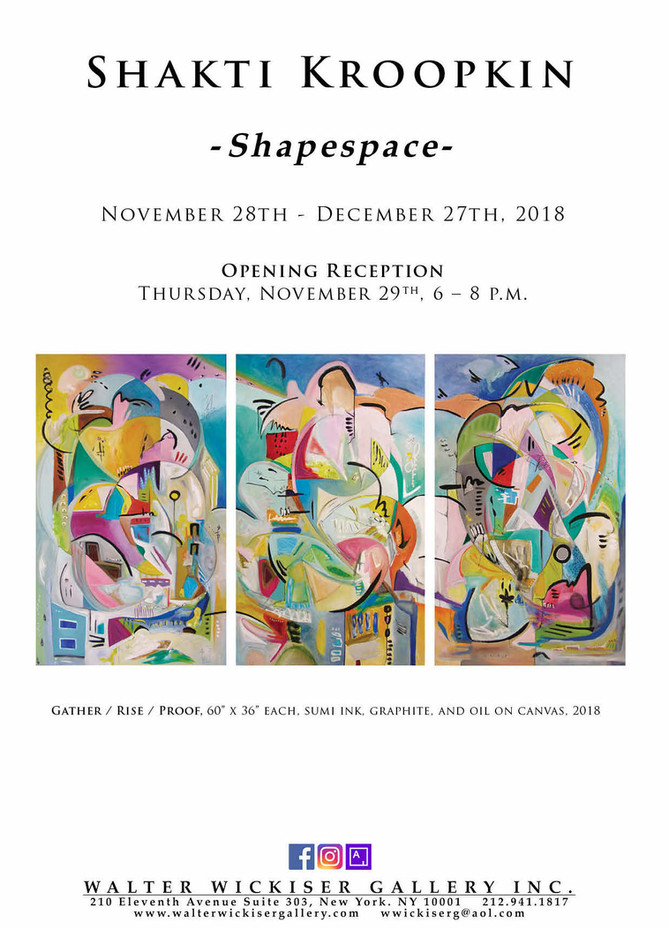 SHAPESPACE at Walter Wickiser Gallery in NYC