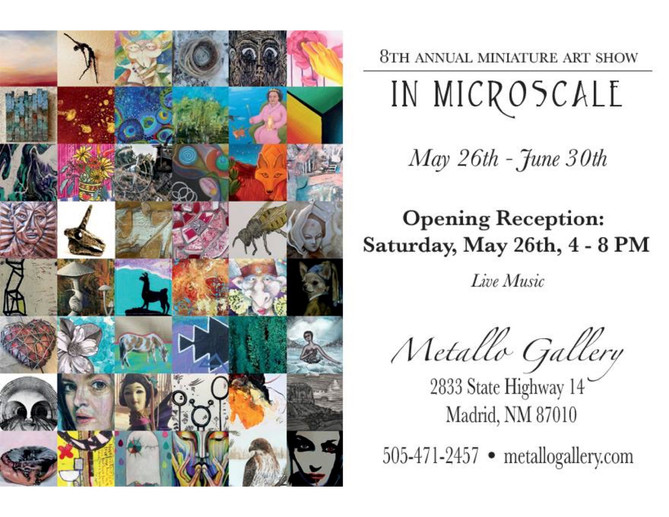 In Microscale. Group Show at Metallo Gallery, Madrid, NM.  May-June 2018.