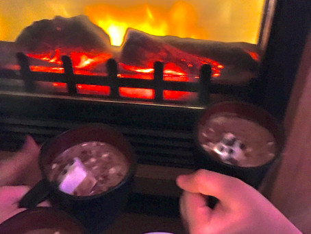 Day 19: Hot chocolate by the fire