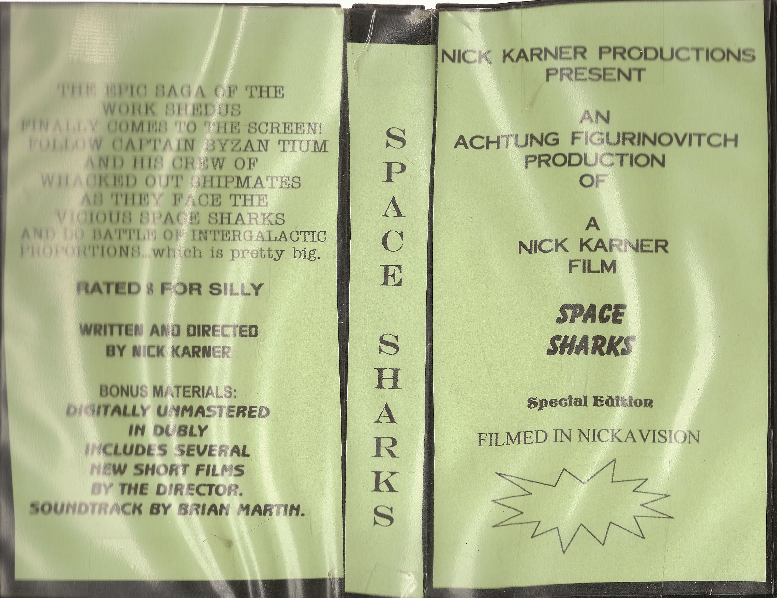 Space Sharks VHS Cover