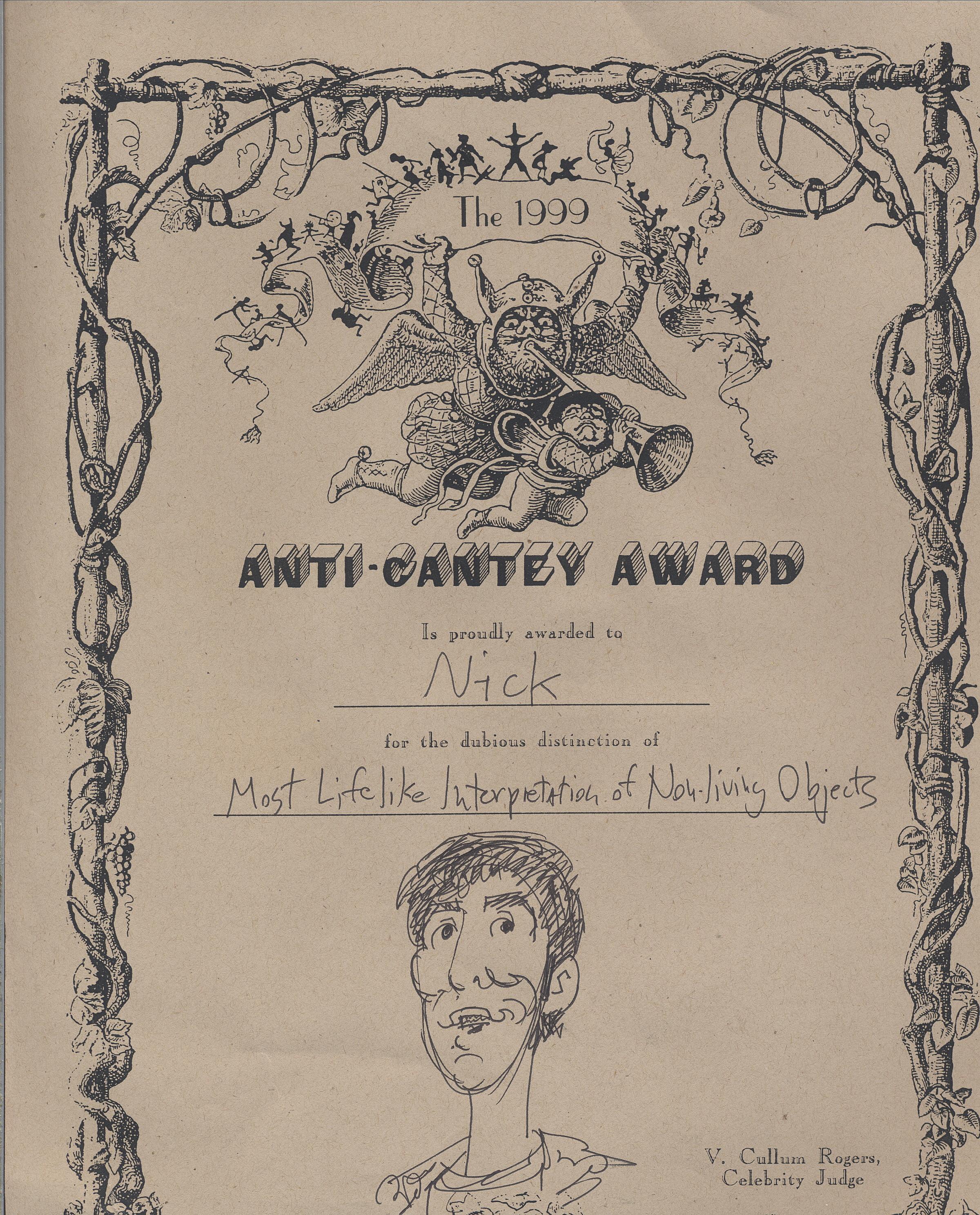 Anti-Cantey Award