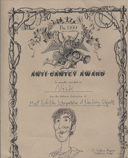 Anti-Cantey Award